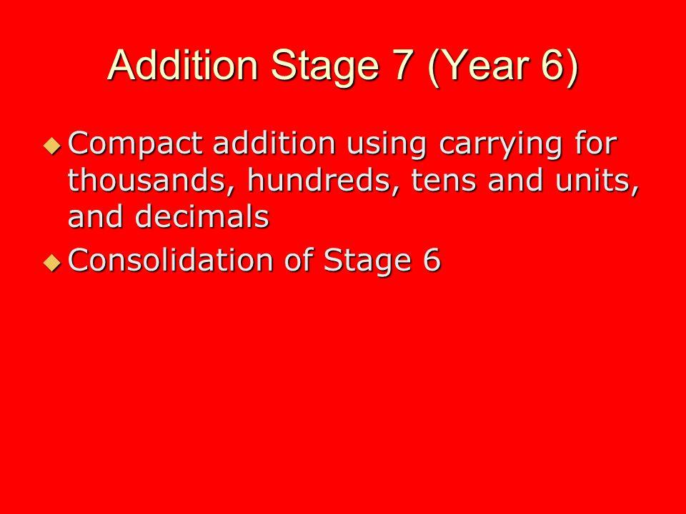 Multiplication Stage 3 (Year 2) Understand multiplication as repeated addition Understand multiplication as repeated addition Know by heart the multiplication facts for the 10 and 2 multiplication tables Know by heart the multiplication facts for the 10 and 2 multiplication tables