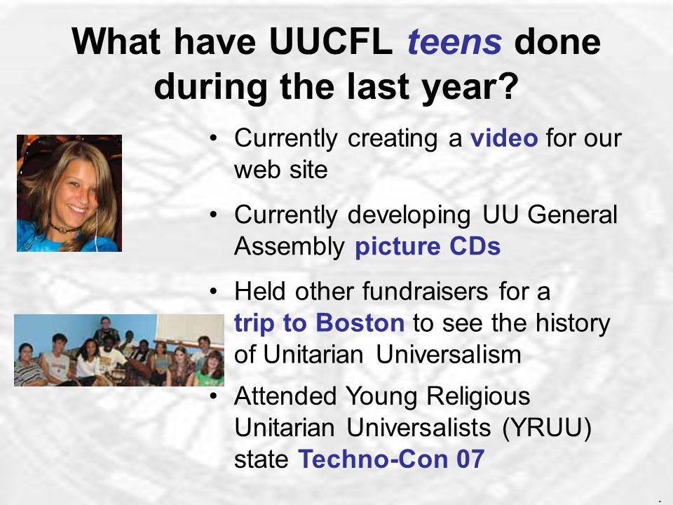What has UUCFL done for adult religious education.