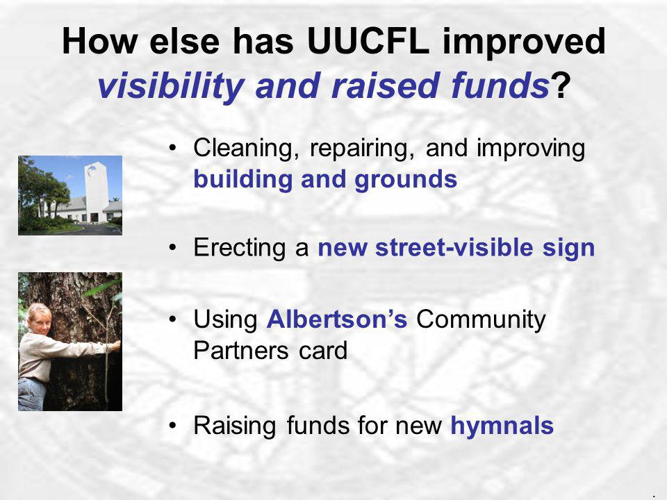 How else has UUCFL enriched the social lives of our members.