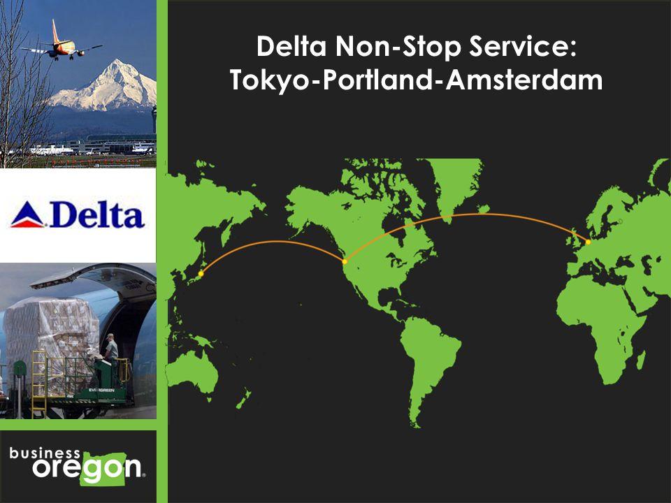 Delta Non-Stop Service: Tokyo-Portland-Amsterdam