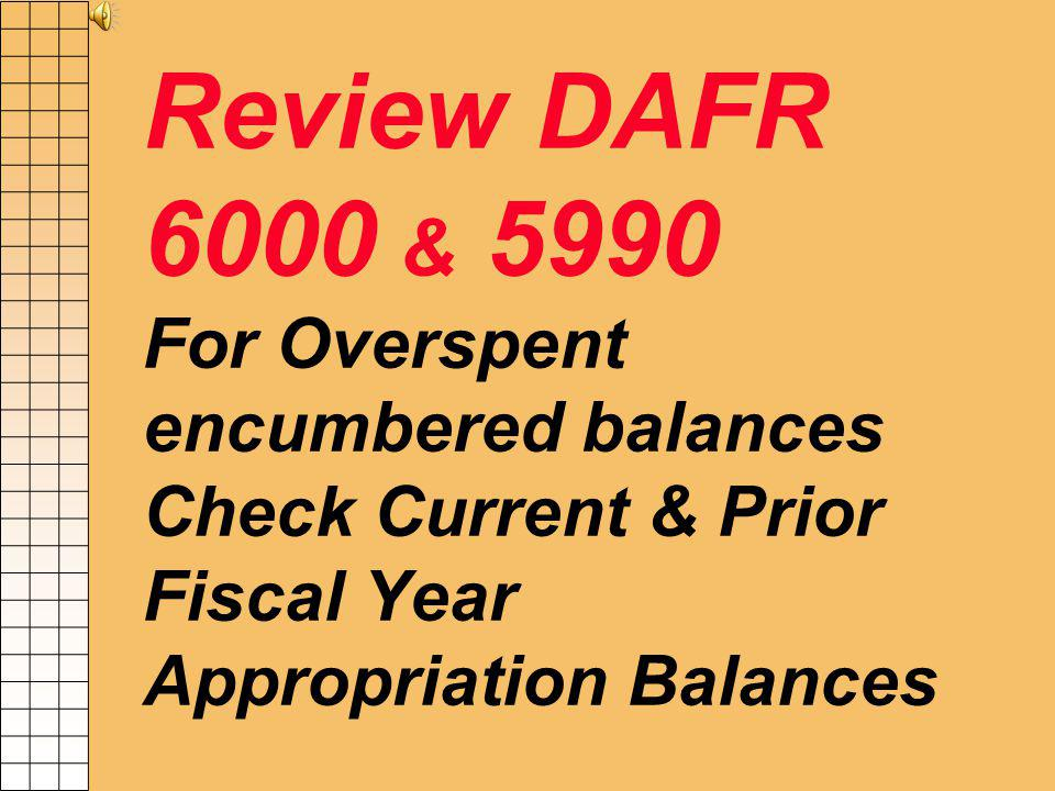 Reversions of Appropriations Automatic at year end once all agencies are closed.