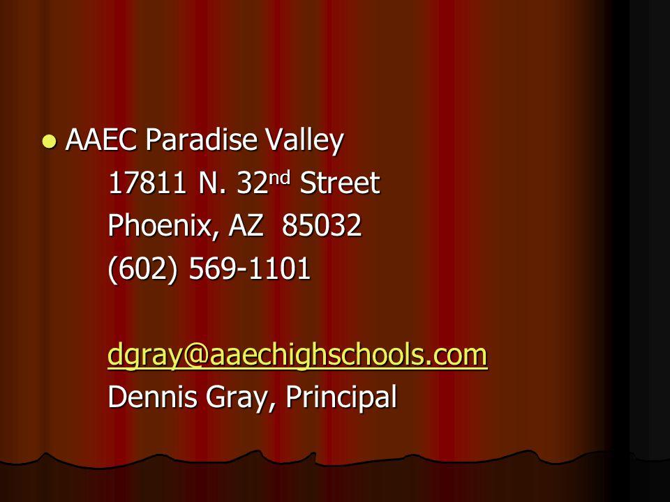 AAEC Paradise Valley AAEC Paradise Valley 17811 N.