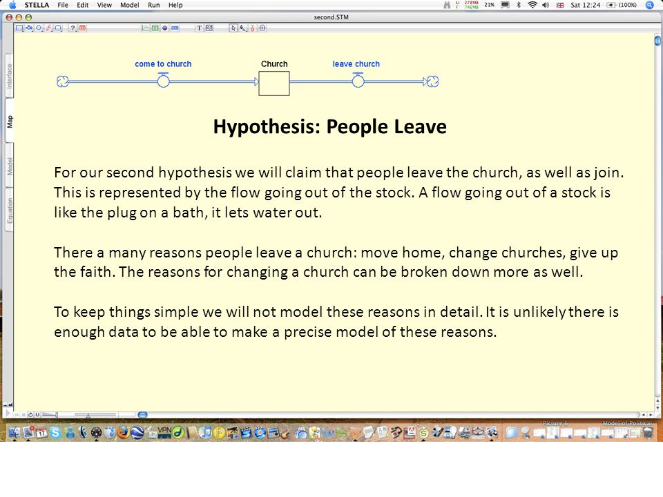 Hypothesis: People Leave For our second hypothesis we will claim that people leave the church, as well as join.