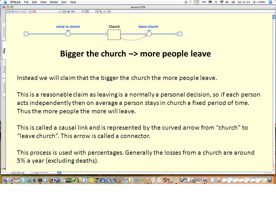 Bigger the church –> more people leave Instead we will claim that the bigger the church the more people leave.