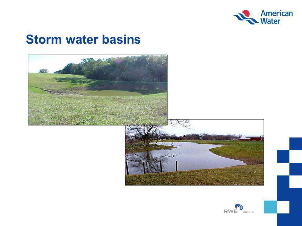 Storm water basins
