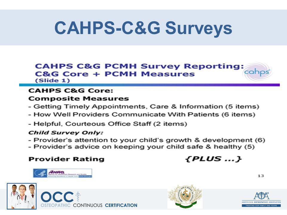 CAHPS-C&G Surveys