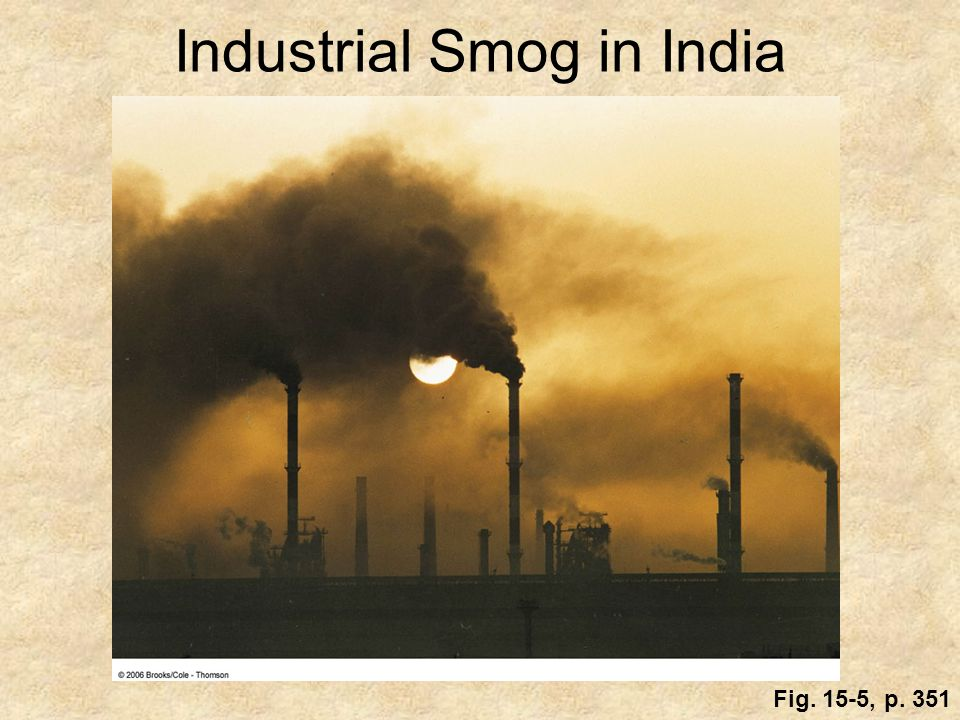 Industrial Smog in India Fig. 15-5, p. 351