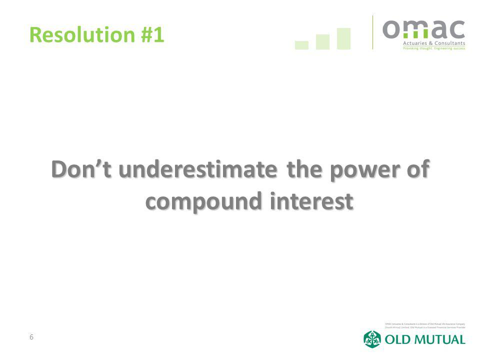 6 Resolution #1 Dont underestimate the power of compound interest