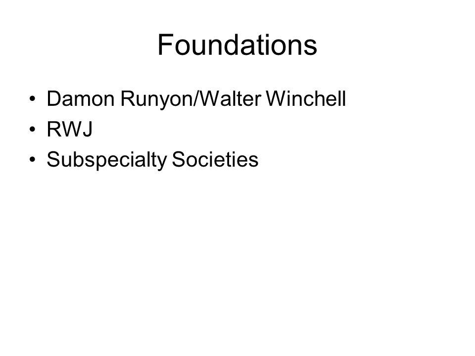 Foundations Damon Runyon/Walter Winchell RWJ Subspecialty Societies