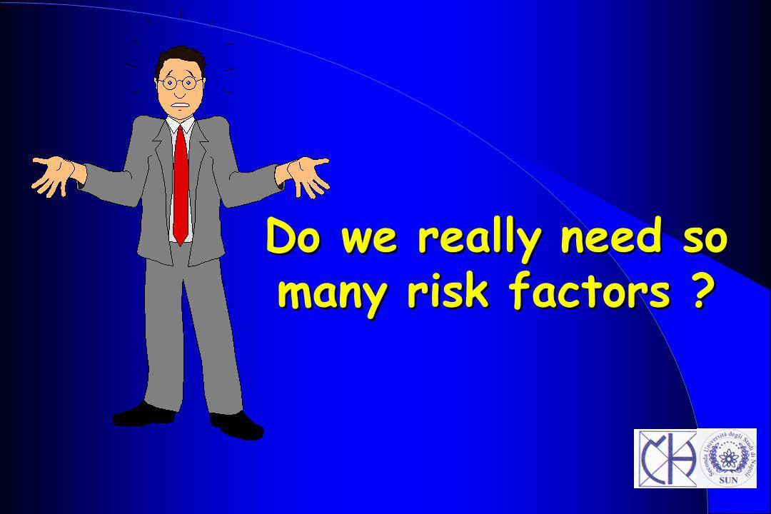 Do we really need so many risk factors ?