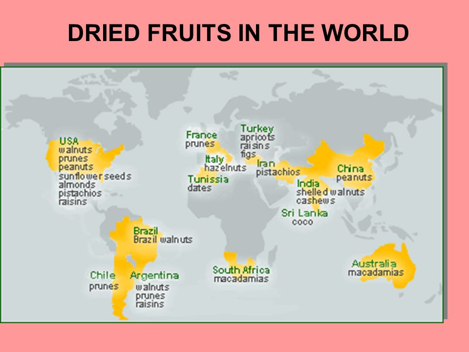DRIED FRUITS IN THE WORLD