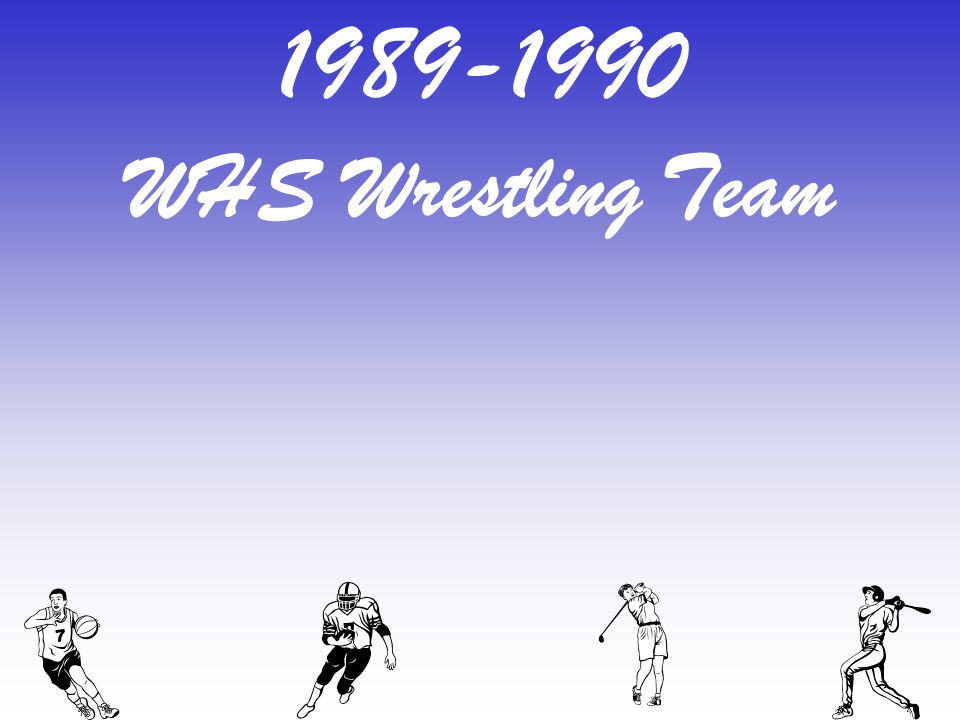 1989-1990 WHS Wrestling Team