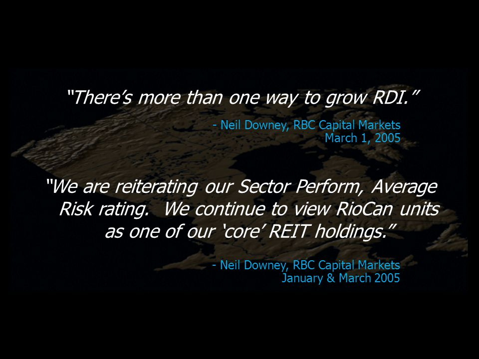 Theres more than one way to grow RDI.