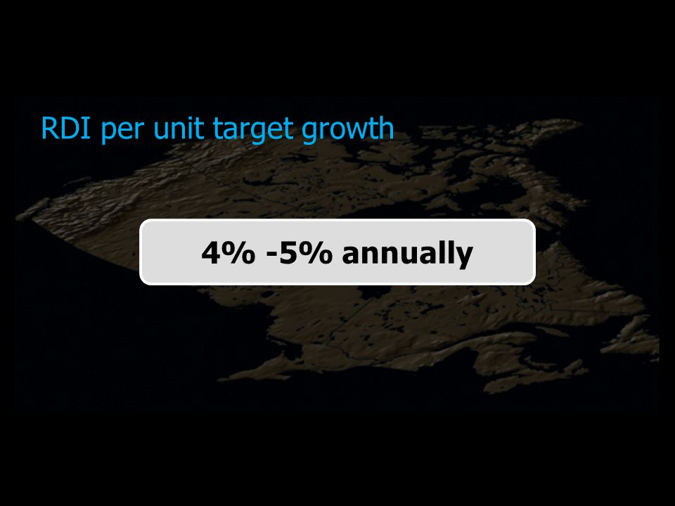 RDI per unit target growth 4% -5% annually