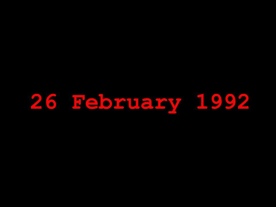 26 February 1992
