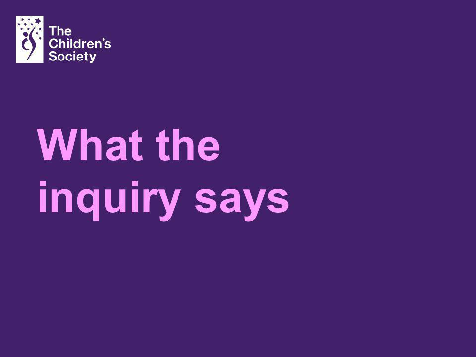 What the inquiry says