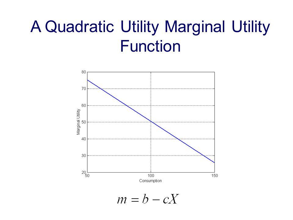 A Quadratic Utility Marginal Utility Function