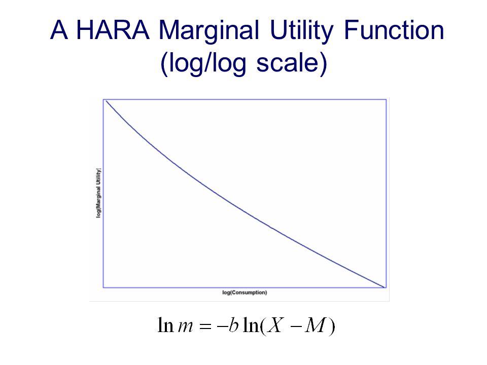 A HARA Marginal Utility Function (log/log scale)