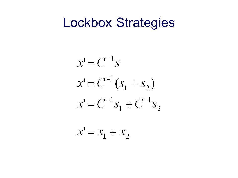 Lockbox Strategies