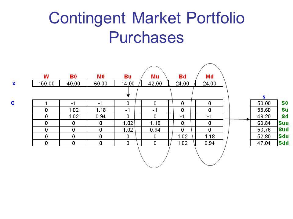Contingent Market Portfolio Purchases