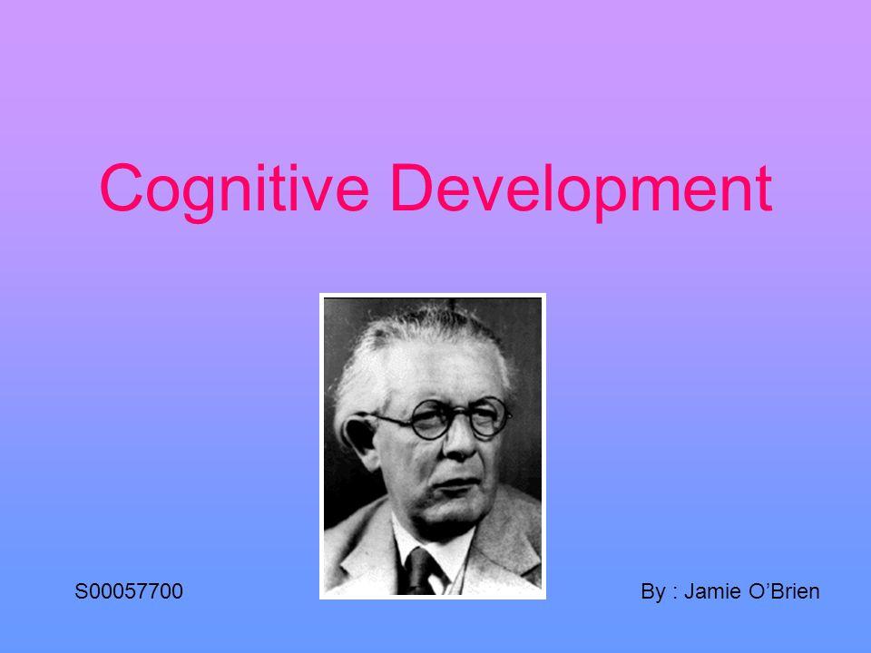 Cognitive Development By : Jamie OBrienS00057700