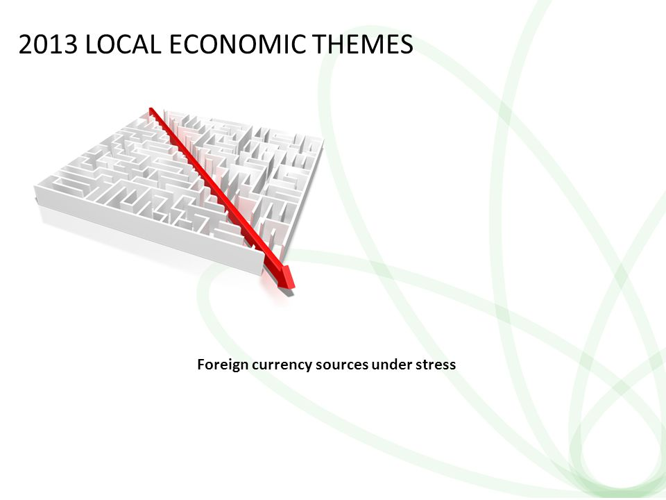13 2013 LOCAL ECONOMIC THEMES Foreign currency sources under stress