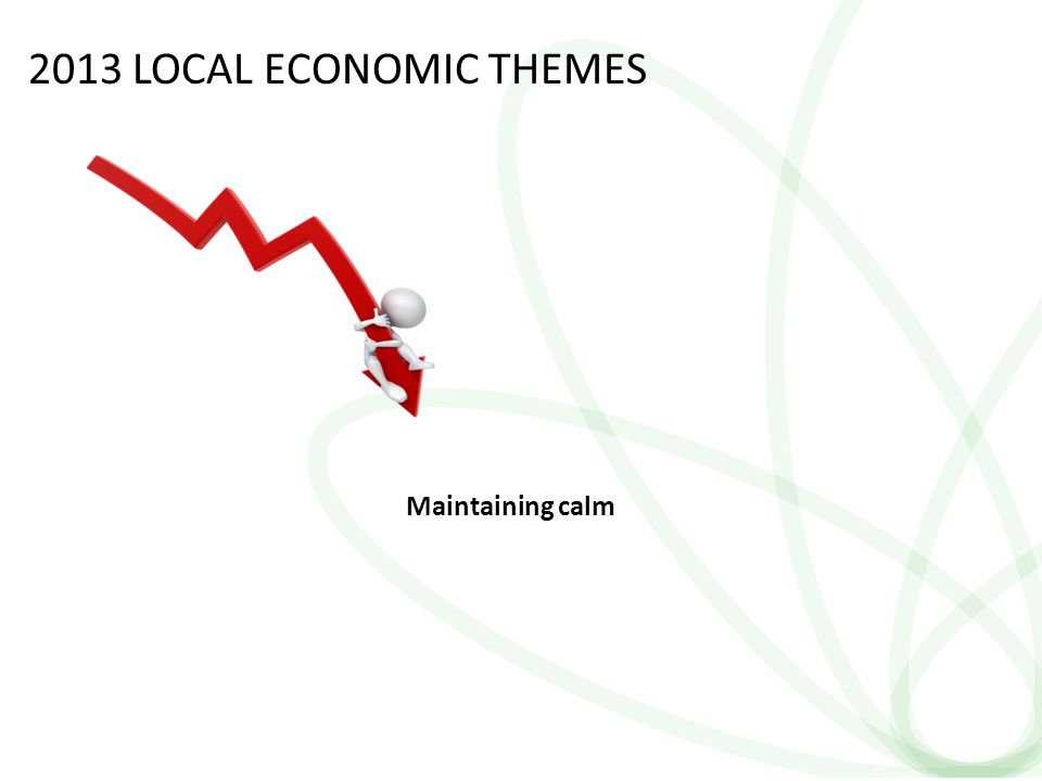 24 2013 LOCAL ECONOMIC THEMES Maintaining calm