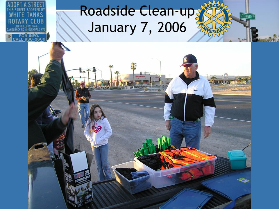 Roadside Clean-up January 7, 2006