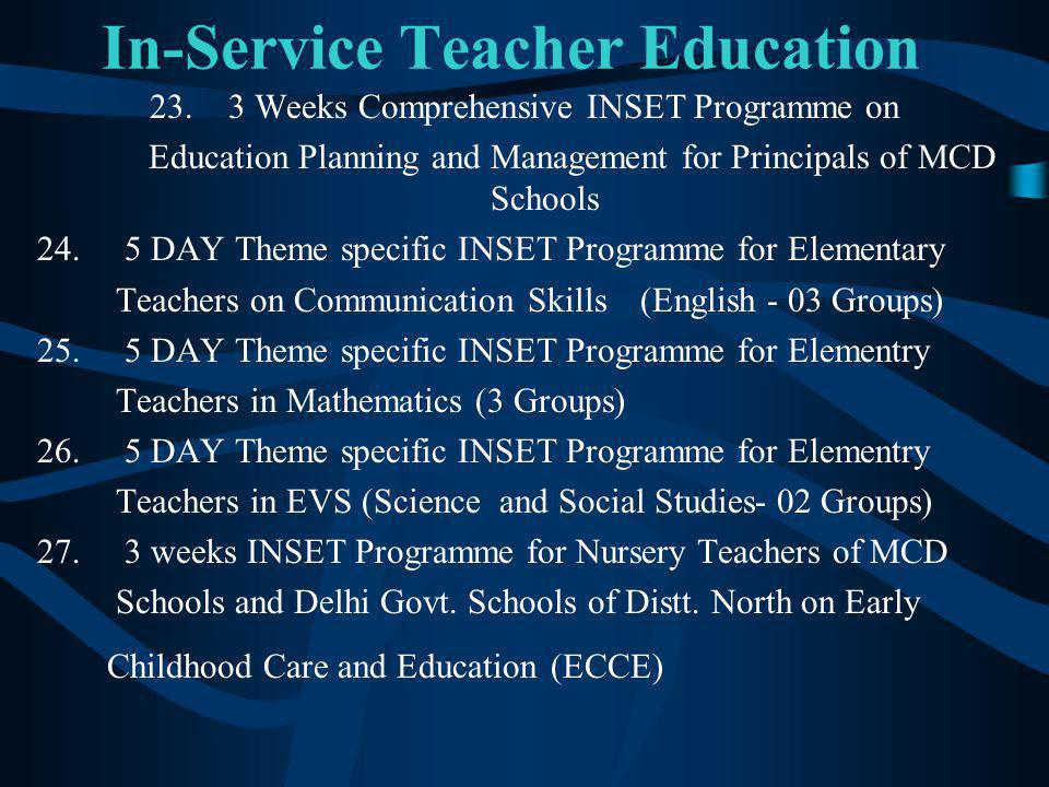 In-Service Teacher Education 23.