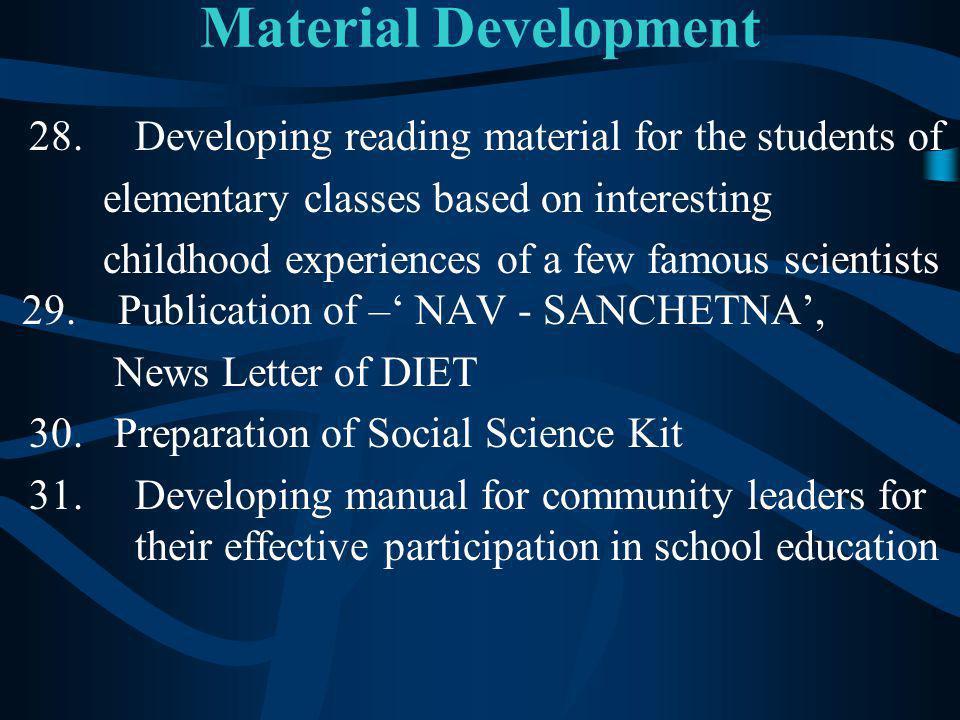 Material Development 28.