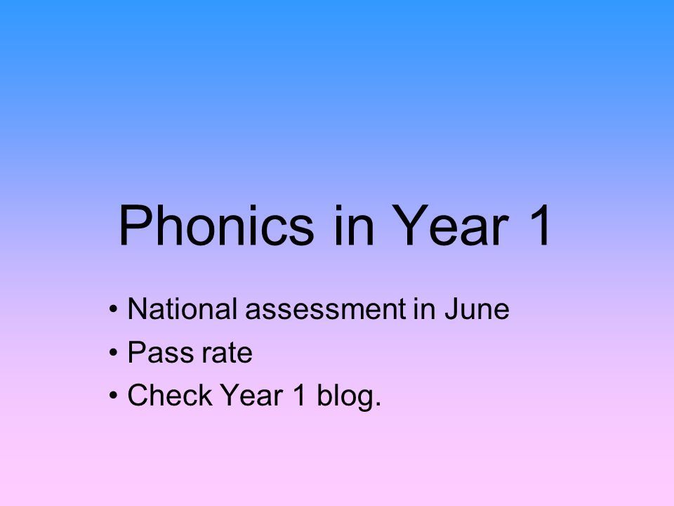 Phonics in Year 1 National assessment in June Pass rate Check Year 1 blog.
