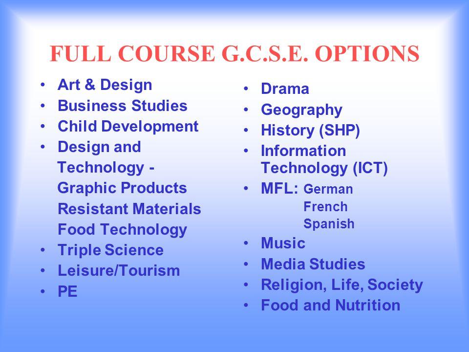 FULL COURSE G.C.S.E.
