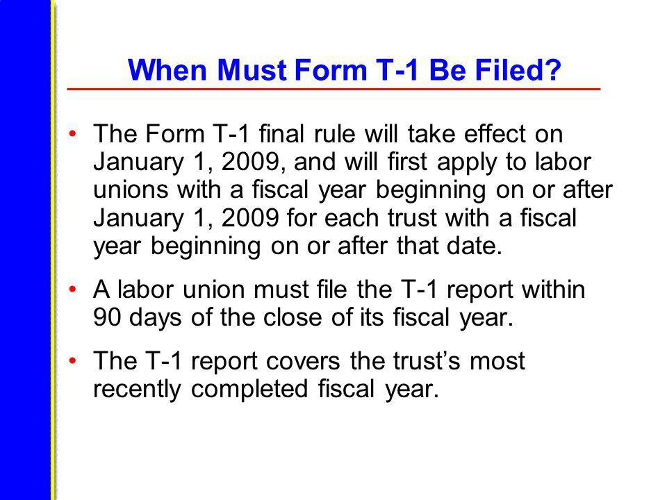 Item 15 Answer Yes to Item 15 if the labor organization will be submitting an audit in place of the remainder of Form T-1.