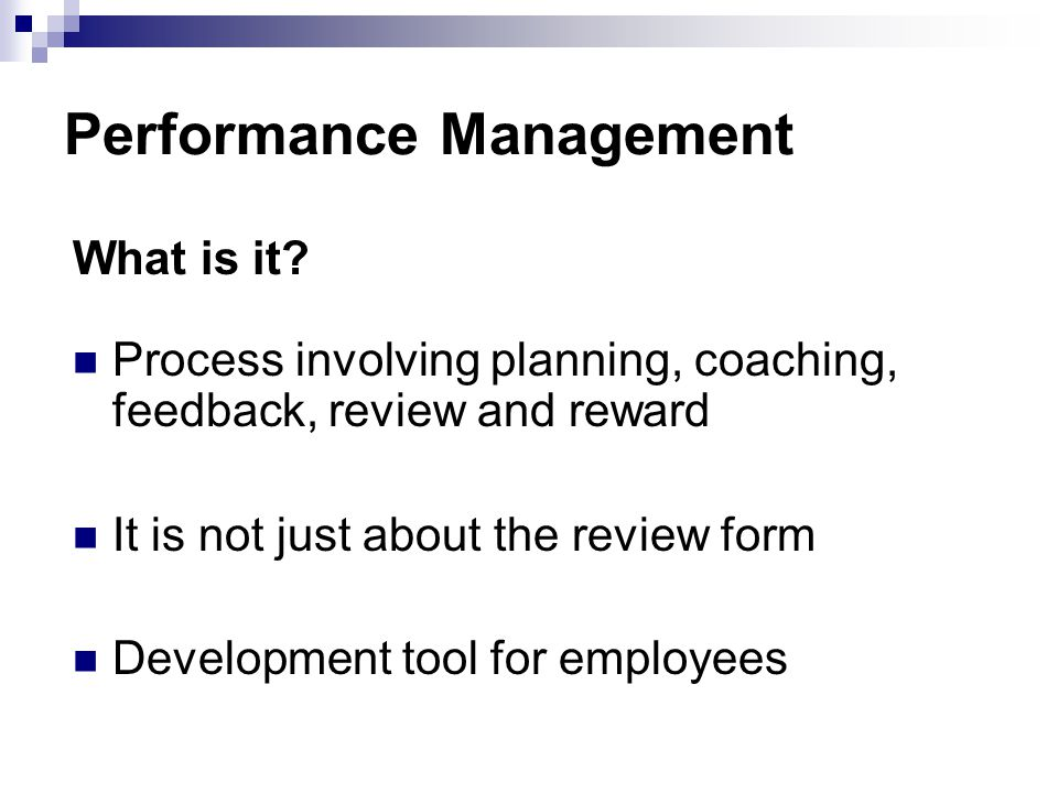 Performance Management What is it.