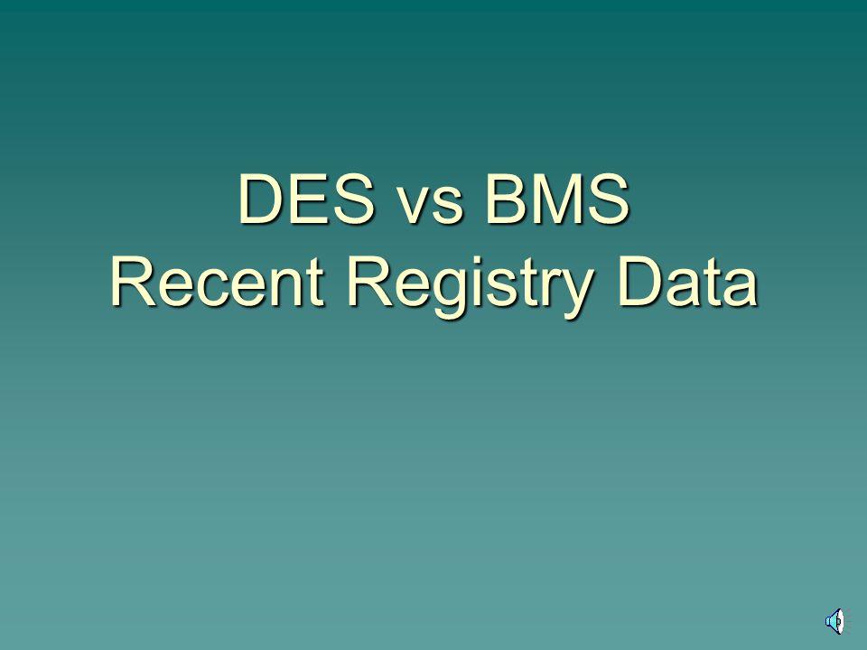 DES vs BMS Recent Registry Data