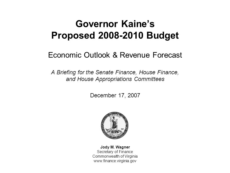 The December Forecast Is Essentially Unchanged From The August Interim Revenue Forecast (continued)… Summary of the December 2007 Revenue Forecast (millions of dollars) Notes: a)Adjusted for the Estate Tax repeal, underlying growth is 3.6% for fiscal year 2008.
