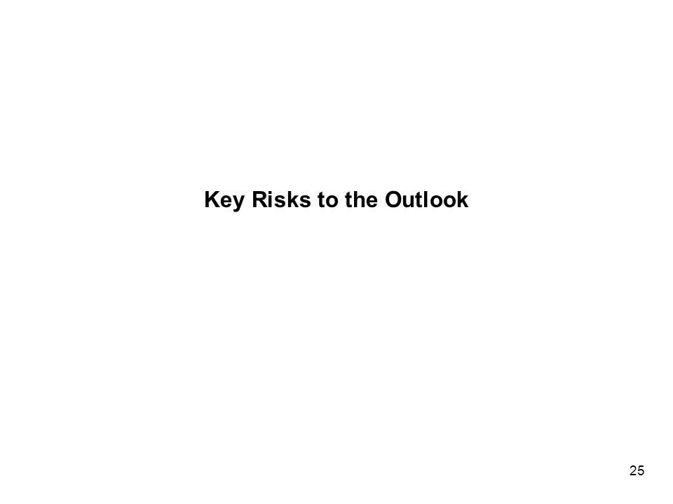 Key Risks to the Outlook 25
