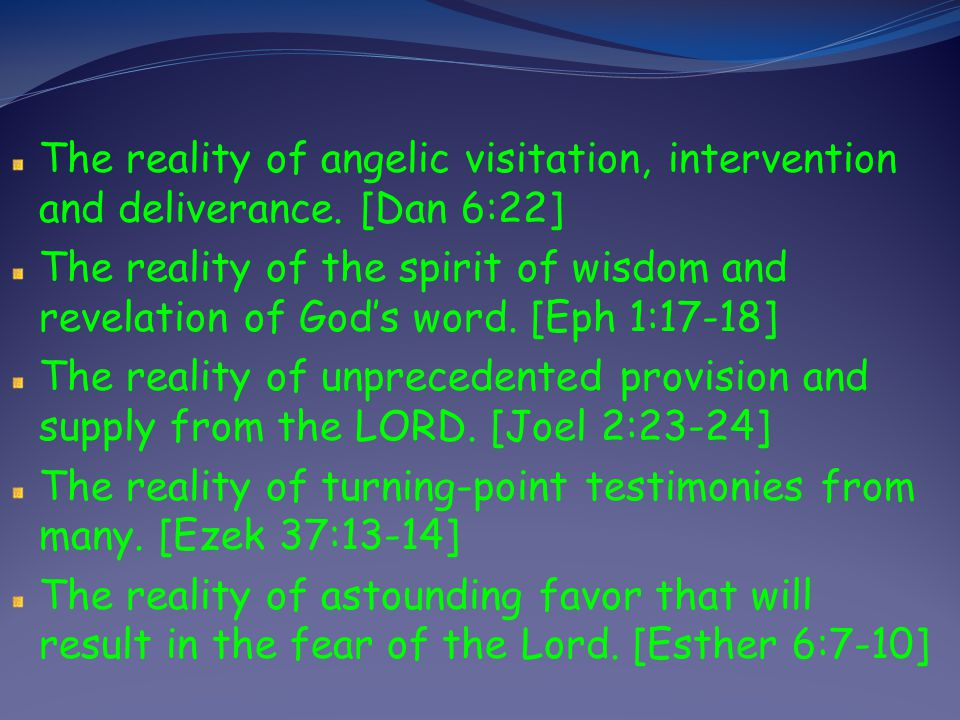 The reality of a generous and a giving spirit among Gods people. [Exod 36:3-7] The reality of the manifestation and use of spiritual gifts. [Acts 2:17