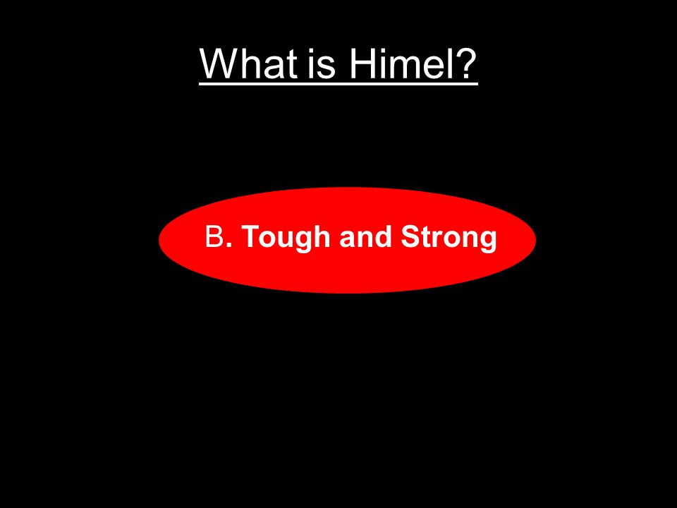 What is Himel A.Slim and Fast B.Tough and Strong C.Fair and Tall D.Silk and Shiny