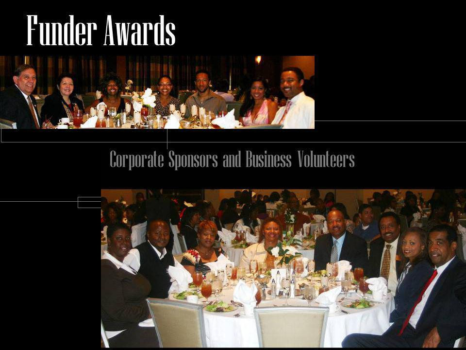 Corporate Sponsors and Business Volunteers Funder Awards