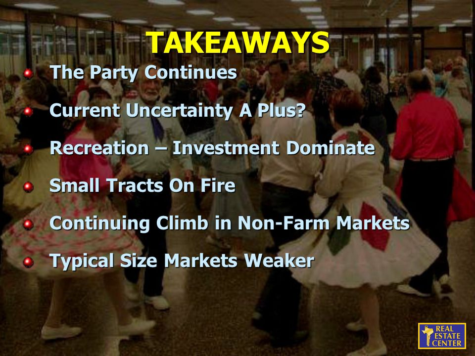 TAKEAWAYS The Party Continues The Party Continues Current Uncertainty A Plus.