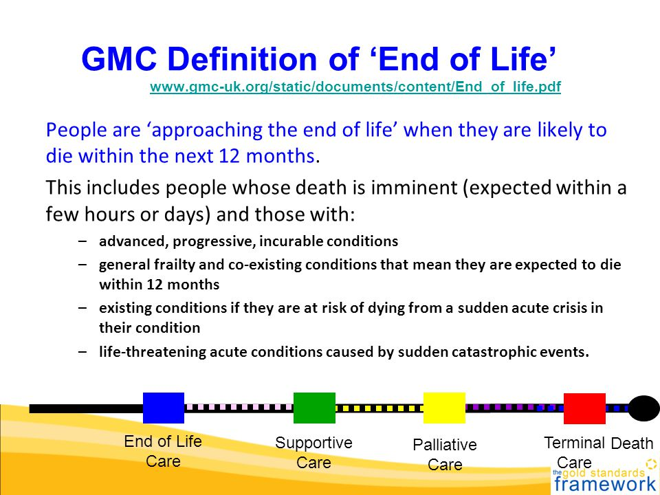 GMC Definition of End of Life GMC definwww.gmc-uk.org/static/documents/content/End_of_life.pdfwww.gmc-uk.org/static/documents/content/End_of_life.pdf