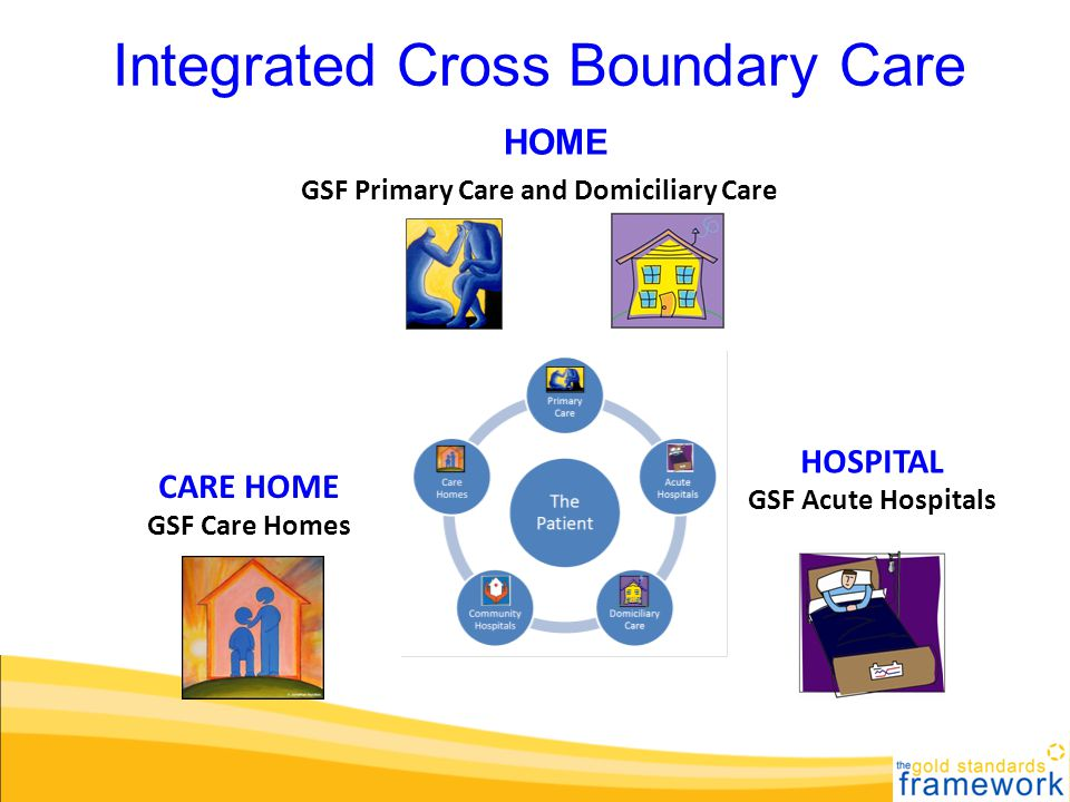 GSF Primary Care and Domiciliary Care CARE HOME GSF Care Homes HOSPITAL GSF Acute Hospitals Integrated Cross Boundary Care HOME
