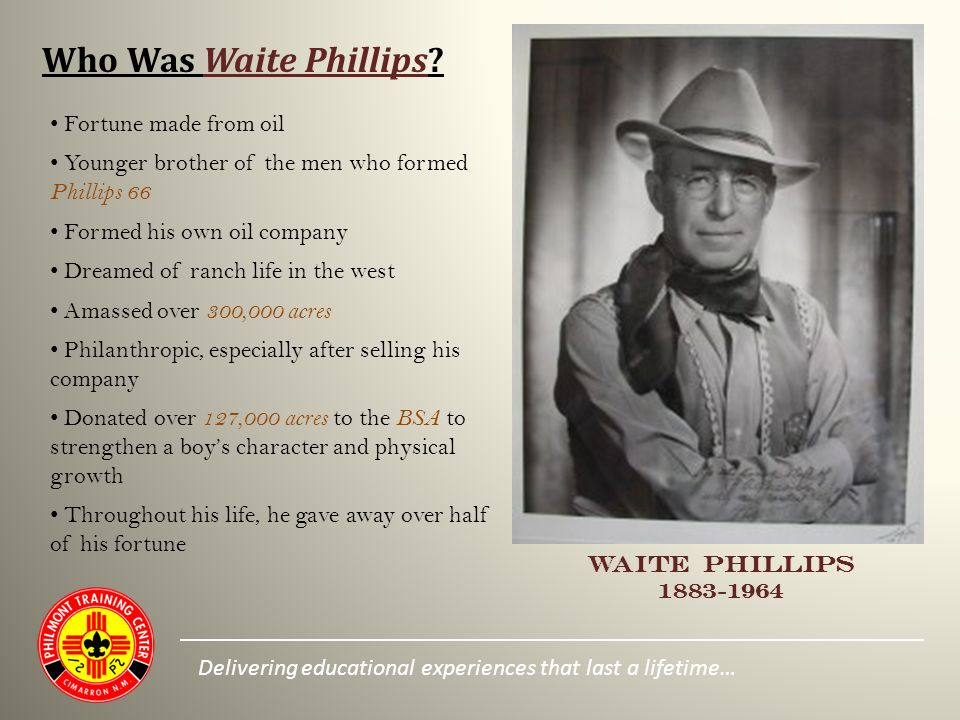 Who Was Waite Phillips.