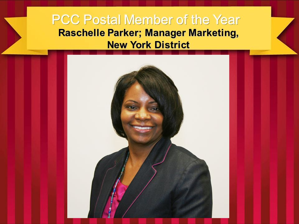 Our winner this year serves as her local PCC Co-chair, and authored its 2012 process plan to more successfully connect, communicate, and react with the areas mail preparers and owners; and to focus on helping them grow their business via new products and services.