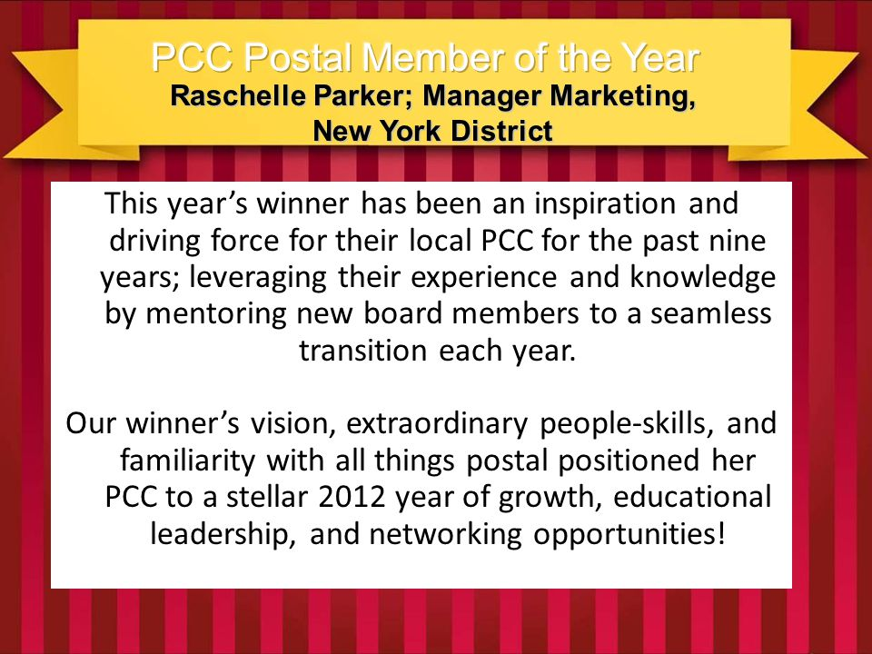 Raschelle Parker; Manager Marketing, New York District