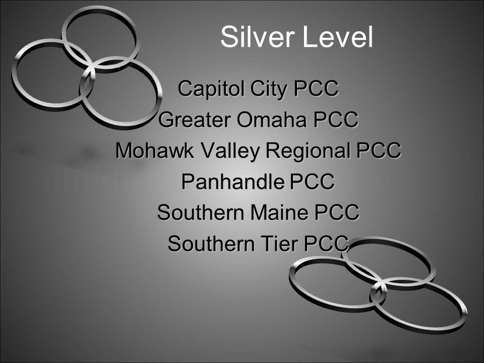 Bronze Level Award Peoria Area PCC South East Minnesota PCC Southeastern Pennsylvania PCC Southern Nevada PCC Southwest Florida PCC Southwest Idaho PCC Twin Ports PCC