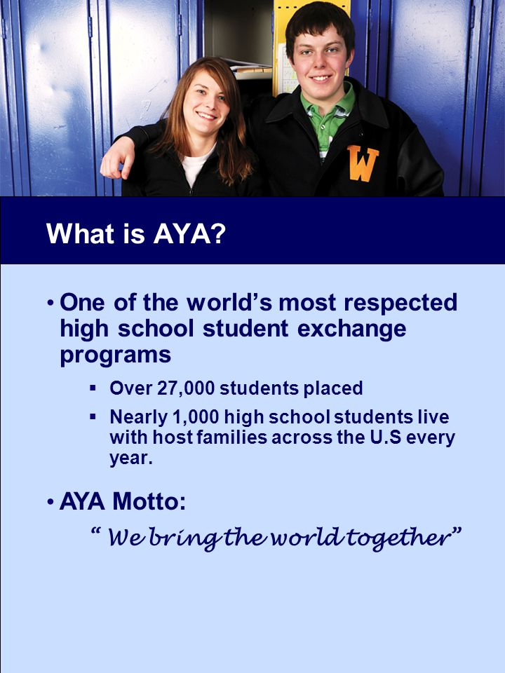 What is AYA.