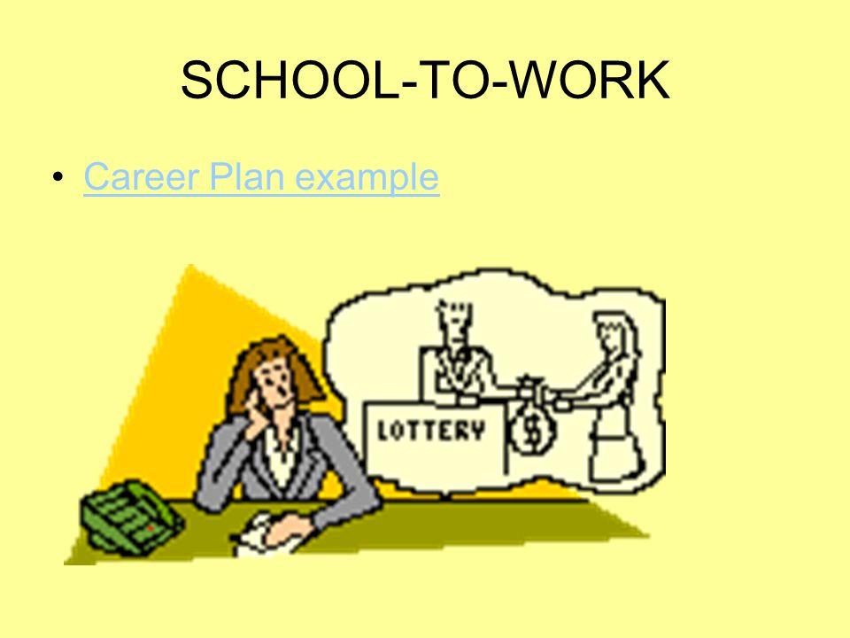 SCHOOL-TO-WORK Career Plan example