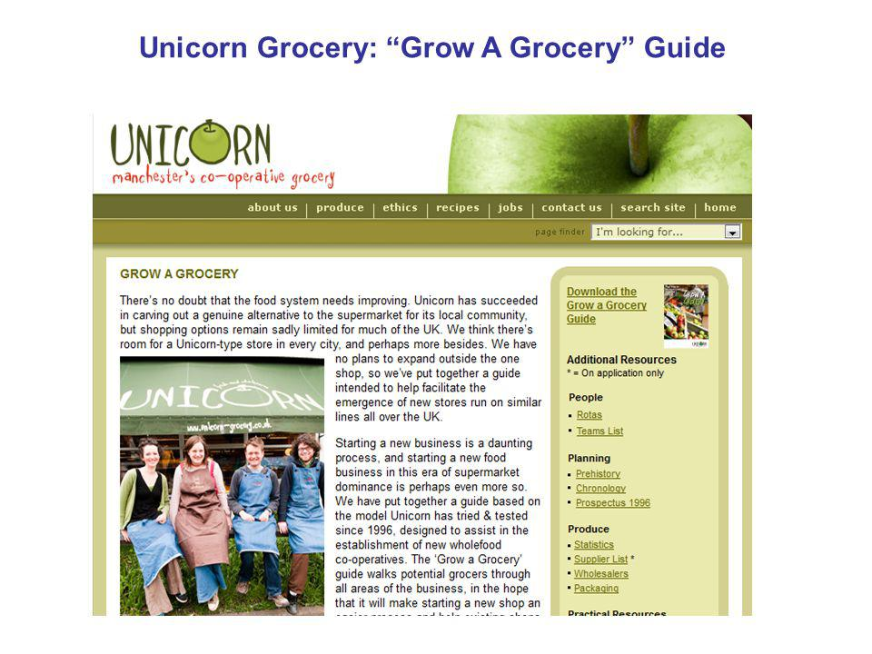 Unicorn Grocery: Grow A Grocery Guide